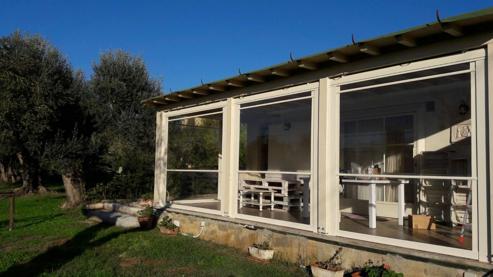 Strutture per esterni per case ville negozi e locali gani tende - Strutture in alluminio per esterno ...