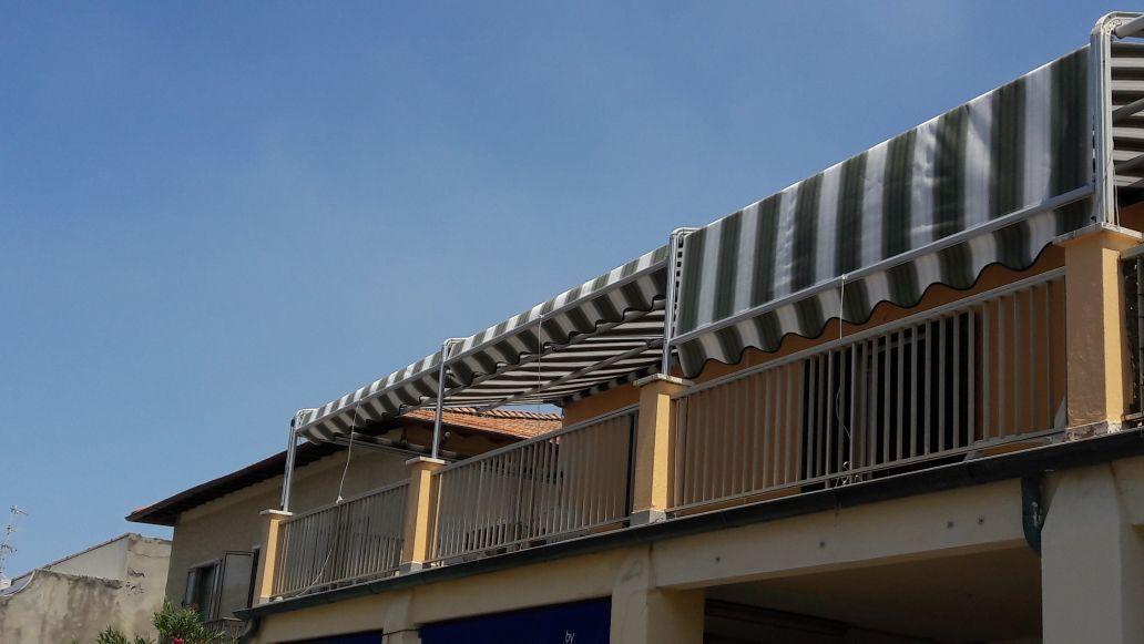 11 metri di tende a capanno