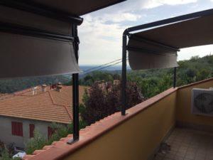 tende a capanno con struttura antracite e tessuto grigio per terrazzo <b>RIF: TS29</b>