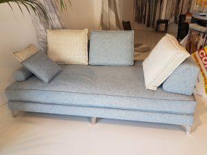 divano marca gani fatto a mano in massello e piume <b>RIF: CA46</b>