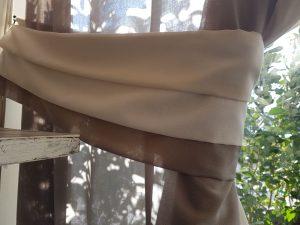 fascia embrasse coordinata a tenda arricciata <b>RIF: CA47</b>