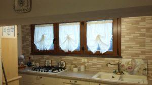 tende a vetro ad effetto pacchetto, in tulle avorio doppiato con mussola <b>RIF: TC178</b>