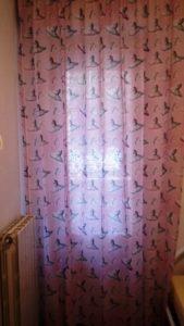 tende rosa con fantasia ballerine per cameretta