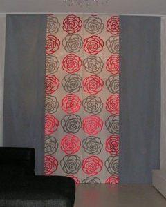 tende a pannelli con stampa a rose stilizzate <b>RIF: TC396</b>