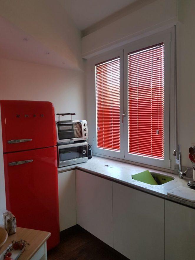 veneziane rosso lacca cinese per finestra