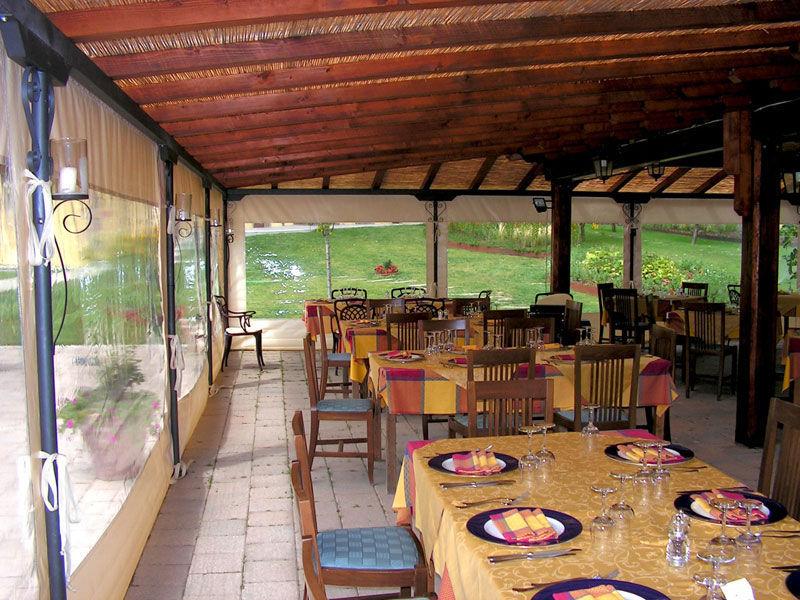 chiusure laterali in pvc e cristall per ristorante in toscana <b>RIF: SE63</b>