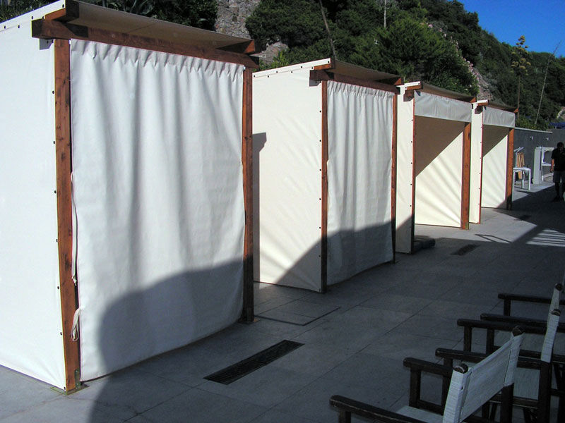 gazebi in pvc color avorio per stabilimento in toscana <b>RIF: SE43</b>