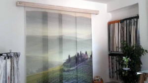 tenda a pannelli con stampa toscana