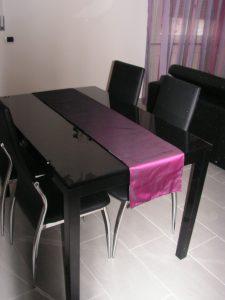 runner tavolo coordinato con mantovana delle tende <b>RIF: CA2</b>