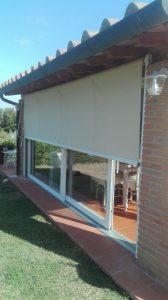tenda a caduta verticale per porta finestra scorrevole RIF: TS40