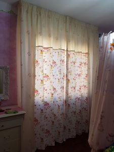 tenda classica su binario con fantasia a fiori <b>RIF: TC110</b>