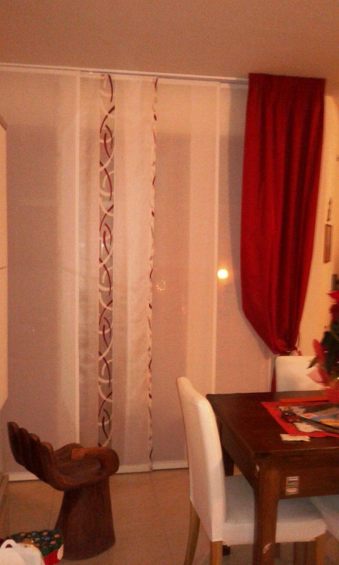 tende a pannelli completate da calata coordinata su angolo per sala min
