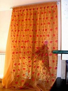 tenda in tulle francese doppiato in organza <b>RIF: TC384</b>