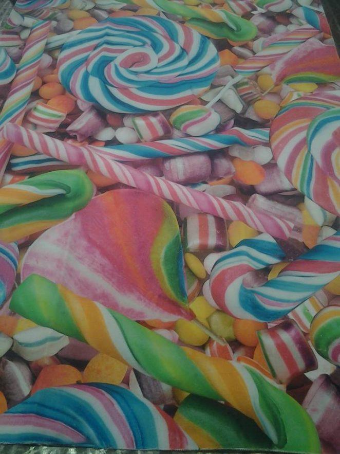 tessuto da arredamento con caramelle