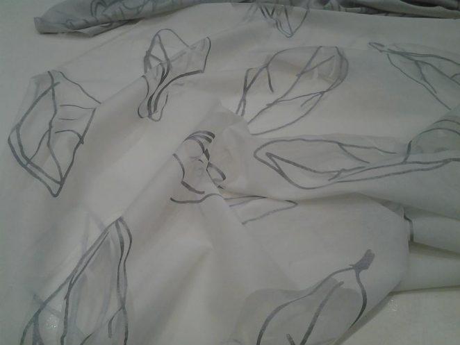 tessuto da interni con foglie stilizzate