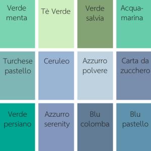palette colori shabby chic blu e verde by gani