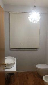 rullo in tessuto filtrante per finestra bagno <b>RIF: TC450</b>