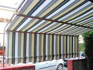 tenda a capanno a righe verdi RIF: TS333