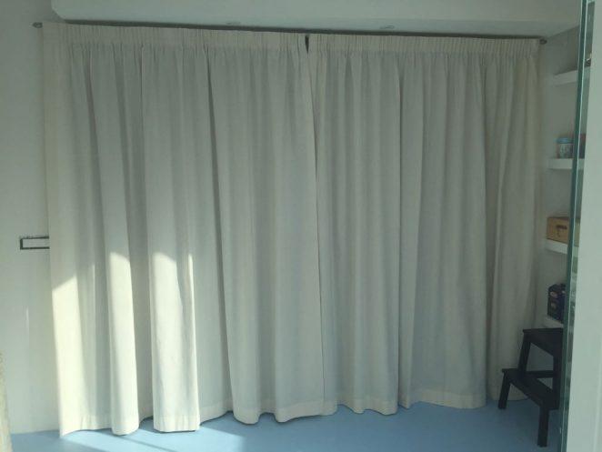 tenda in cotone pesante double face per dividere cucina da sala