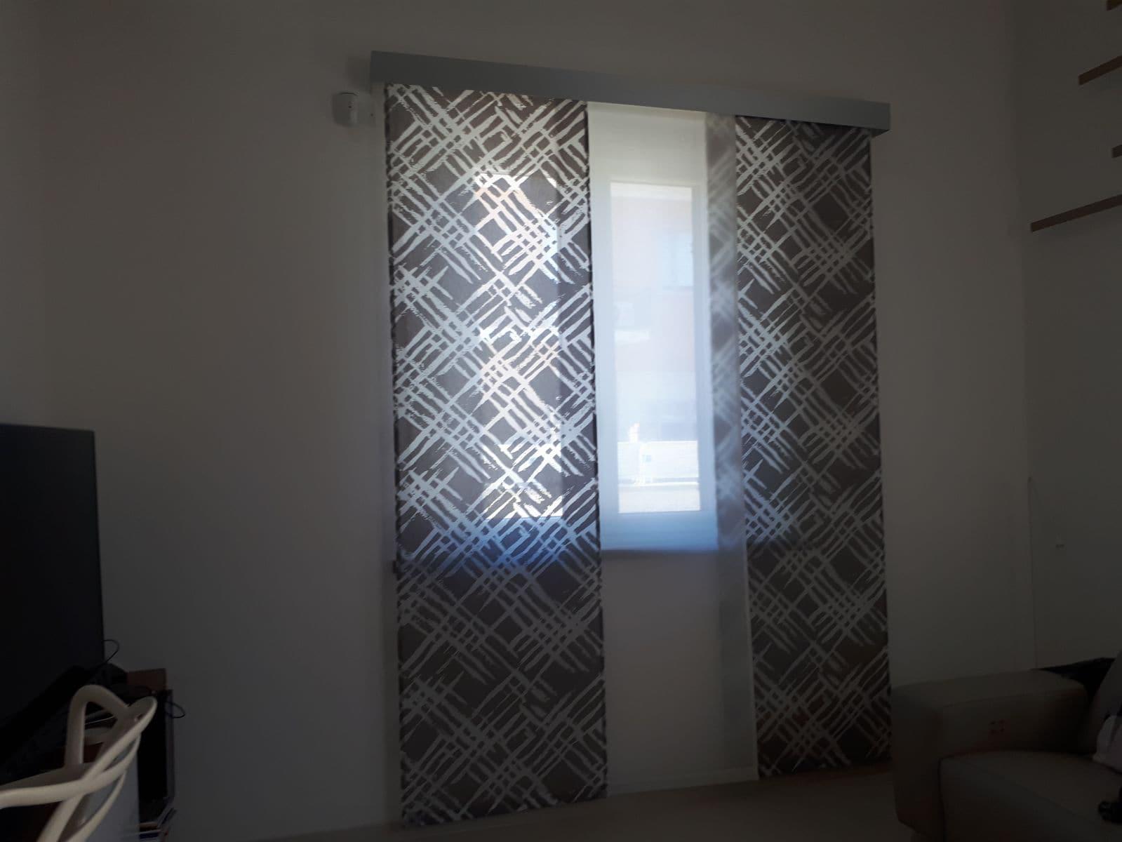 tenda a pannelli moderna con mantovana in alluminio