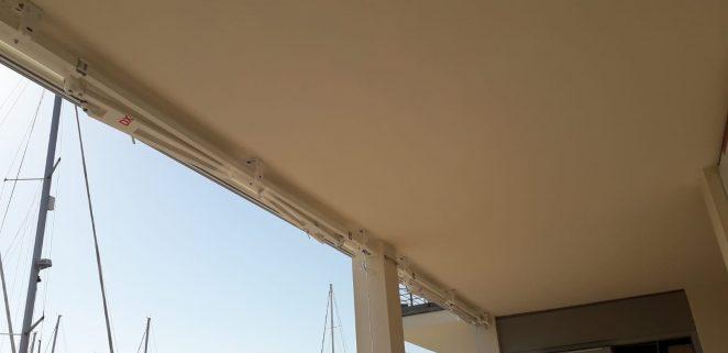 tende a bracci con barra quadra in alluminio a marina cala de medici provincia di livorno