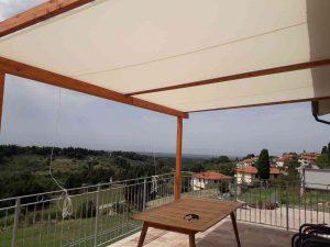 copertura su misura per struttura in legno da esterno
