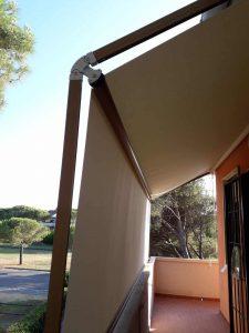 tenda a capanno senza cuciture per copertura parziale di terrazzo