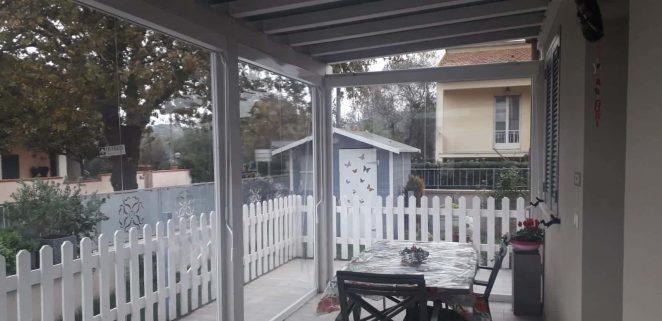 5 tende antipioggia e antivento pioggia per chiusura veranda